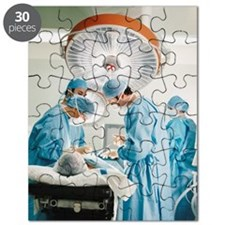 Four Surgeons Operating on a Patient Puzzle