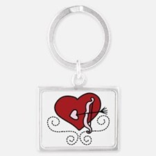 Heart With Bow Landscape Keychain