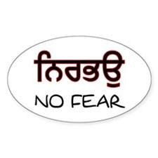 Nirbhau - No Fear Oval Decal