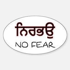 Nirbhau - No Fear Oval Decal