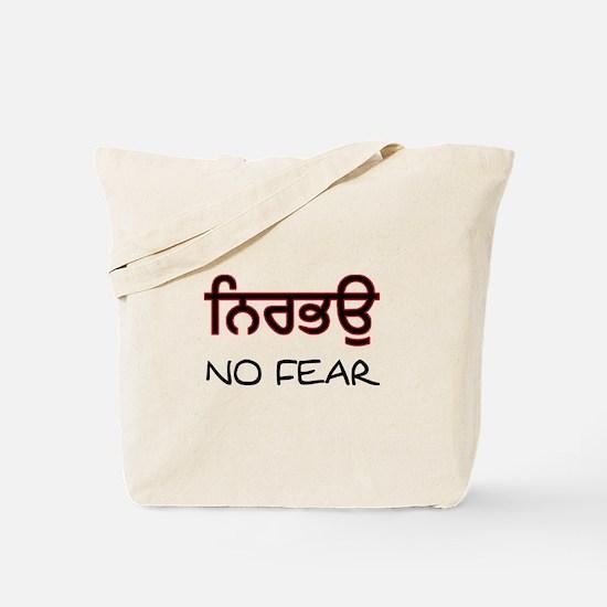 Nirbhau - No Fear Tote Bag