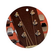 head and tuning keys of acoustic gu Round Ornament