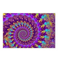 Psychedelic Purple Fracta Postcards (Package of 8)