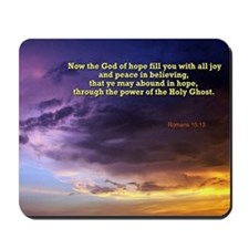 Romans 15:13 Mousepad