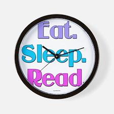 Eat. Sleep. Read. Wall Clock
