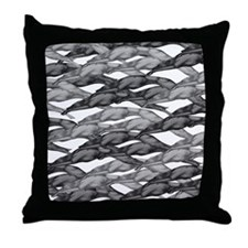 Greyhounds Leaping Art Deco Throw Pillow