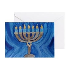 HANUKKAH MENORAH Greeting Card