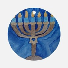 HANUKKAH MENORAH Round Ornament
