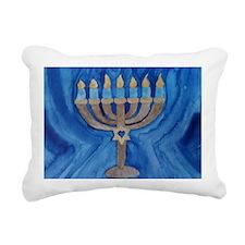 HANUKKAH MENORAH Rectangular Canvas Pillow