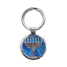 HANUKKAH MENORAH Round Keychain