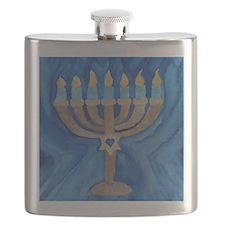 HANUKKAH MENORAH Flask