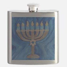 HANUKKAH MENORAH Flask