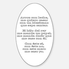 Arroz con Leche Oval Decal