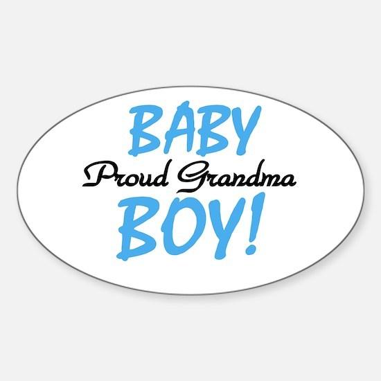 Baby Boy Proud Grandma Oval Decal