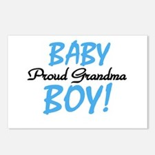 Baby Boy Proud Grandma Postcards (Package of 8)