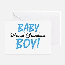 Baby Boy Proud Grandma Greeting Cards (Package of