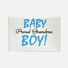 Baby Boy Proud Grandma Rectangle Magnet