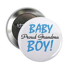 Baby Boy Proud Grandma Button