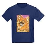 Long Haired Chihuahua Kids Dark T-Shirt