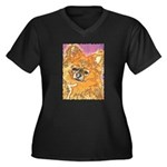 Long Haired Chihuahua Women's Plus Size V-Neck