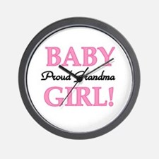 Baby Girl Proud Grandma Wall Clock