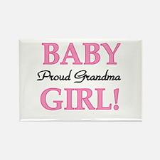 Baby Girl Proud Grandma Rectangle Magnet