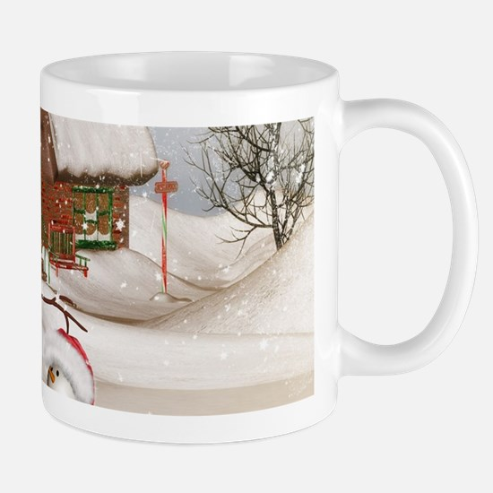 Funny snowmans with christmas hat Mugs
