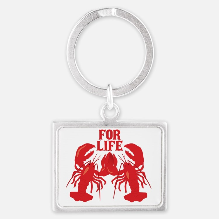 Lobsters Mate For Life Landscape Keychain