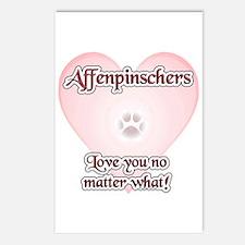 Affenpinscher Love U Postcards (Package of 8)