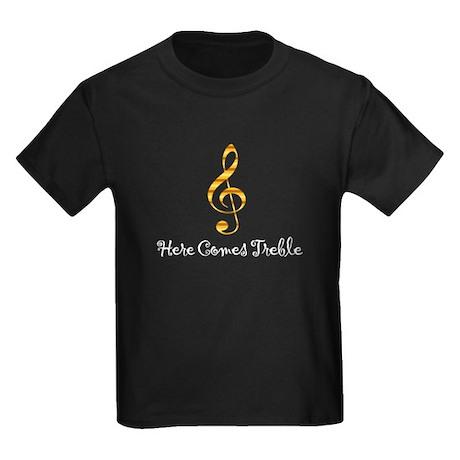 Here Comes Treble Kids Dark T-Shirt