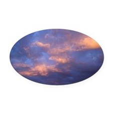 Colorful clouds Oval Car Magnet