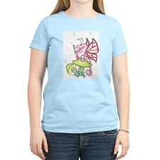 Bubbles Dragon W.O.W. Women's Pink T-Shirt