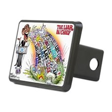 Liar in chief Rectangular Hitch Cover