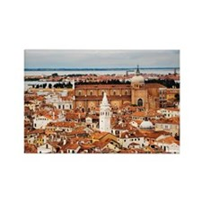 Overview of Venice, Italy    Rectangle Magnet