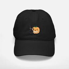 Top Hat Halloween Cat Baseball Hat
