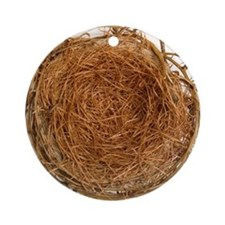 Bird's nest Round Ornament