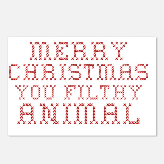 Merry Christmas Postcards (Package of 8)