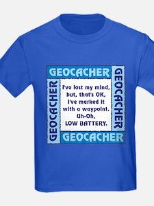 Blue Geocacher Lost Mind T