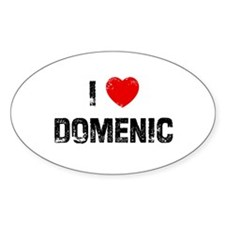 I * Domenic Oval Decal