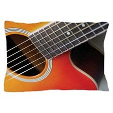 Close-up of guitar, its strings and fr Pillow Case