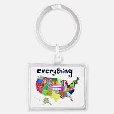 Everything is Everything Equal Landscape Keychain
