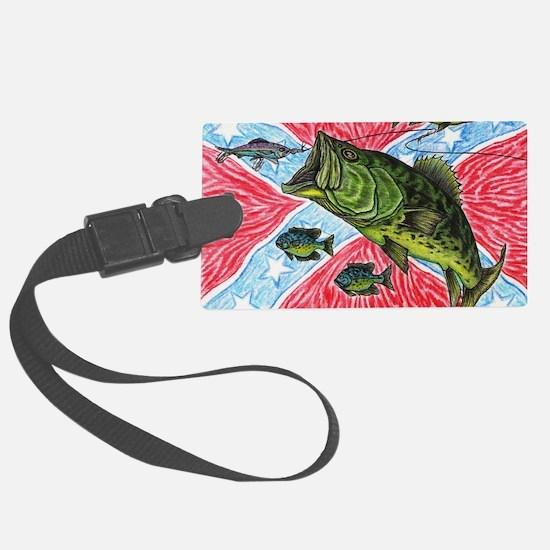 Southern Rebel Bass Fishin Luggage Tag