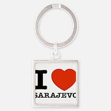 I LOVE SARAJEVO Square Keychain