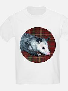 Possum on Plaid T-Shirt