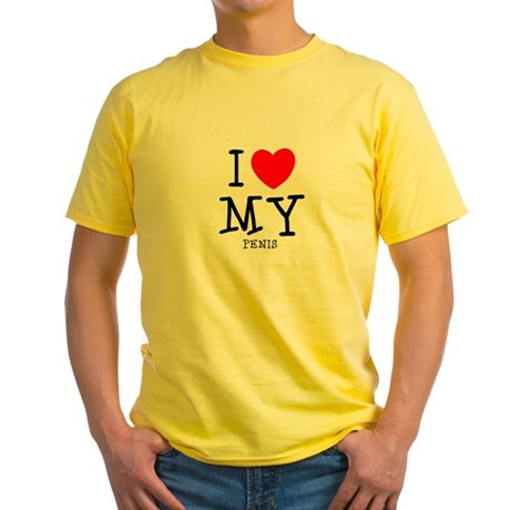 Love My Penis Yellow T-Shirt