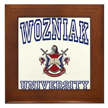 WOZNIAK University Framed Tile