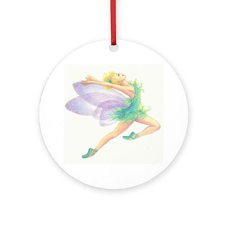 Tinkerbell Ballet Ornament (Round)