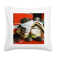 Fireman's boots and gators Square Canvas Pillow