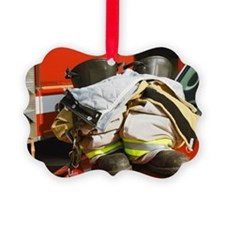 Fireman's boots and gators Picture Ornament
