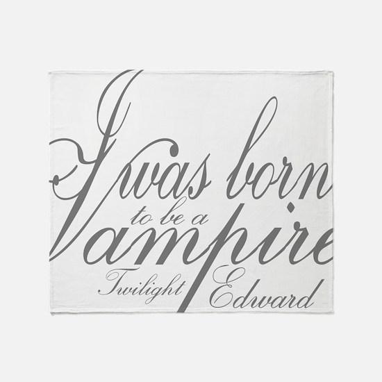 Vampire Edward Throw Blanket